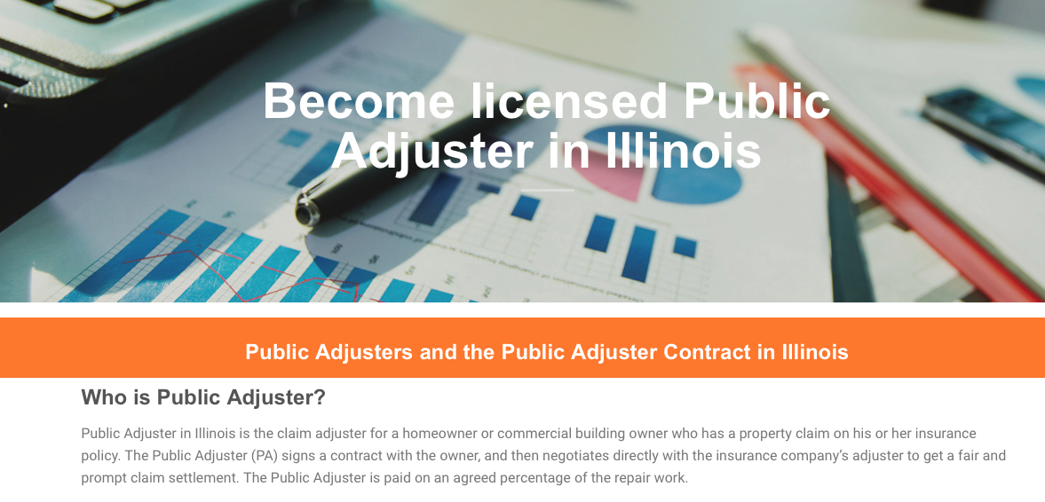 Illinois Public Adjuster Public Adjuster License